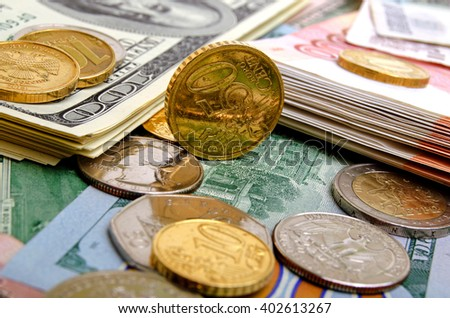 Quotations of currency against the US dollar on the currency markets. - stock photo
