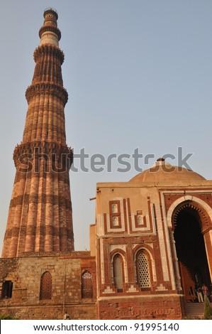 Qutab Minar Complex in Delhi, India - stock photo