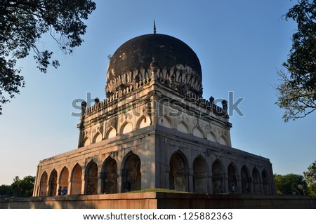 Qutub Shahi Tombs at Hyderabad India - stock photo