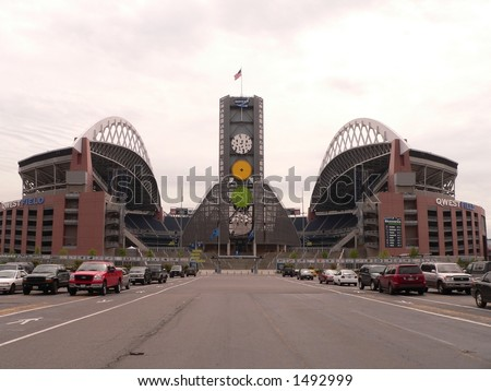 Qwest Field, Seattle - home of the Seattle Seahawks - stock photo