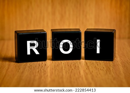 r&d or Research and development text on black block - stock photo