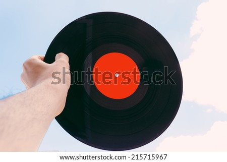 R�©tro vinyl  - stock photo