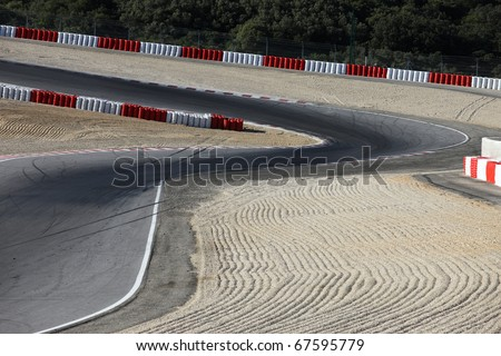 race curve - stock photo