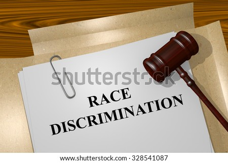 Race Discrimination Title On Legal Documents - stock photo