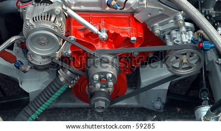 Race Engine - stock photo