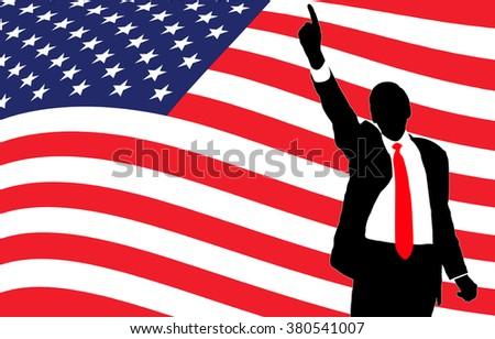 Race for US presidency - stock photo