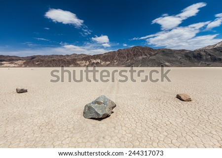 Race Track Death Valley - stock photo