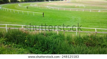 racecourse - stock photo