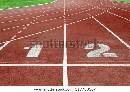 racecourse at the sports stadium - stock photo