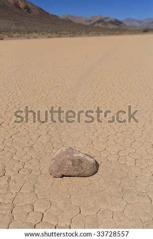 racetrack playa in death valley (2) - stock photo
