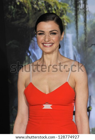 """Rachel Weisz at the world premiere of her movie """"Oz: The Great and Powerful"""" at the El Capitan Theatre, Hollywood. February 13, 2013  Los Angeles, CA Picture: Paul Smith - stock photo"""