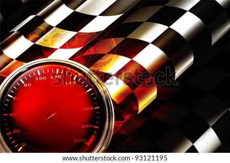Racing Background Horizontal, bitmap copy - stock photo