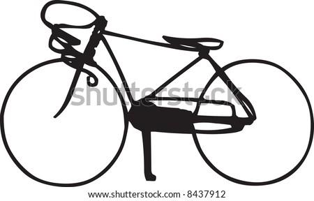 Racing bike illustration - stock photo