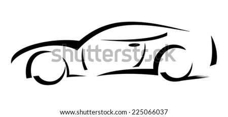 Racing car - Illustration - stock photo