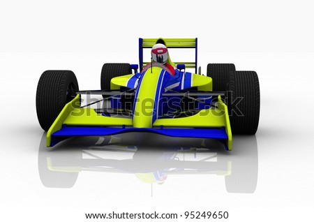 Racing cars on a white background. - stock photo