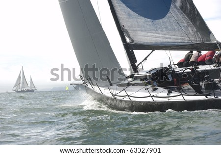 racing on the bay - stock photo
