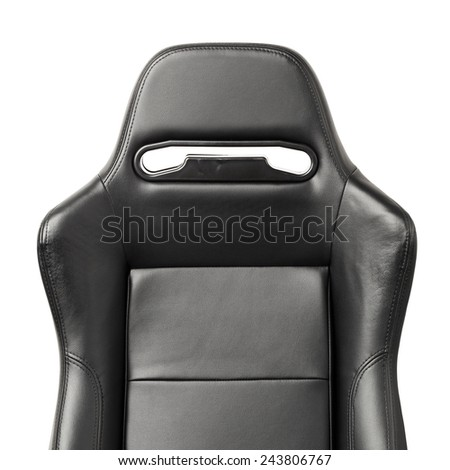 racing simulator seat, closeup view - stock photo