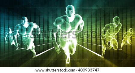 Racing to Success in a Deadline or High Pressure Environment 3D Illustration - stock photo