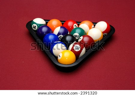 Rack of Balls - stock photo