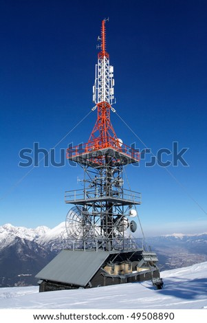Radar at the top - stock photo