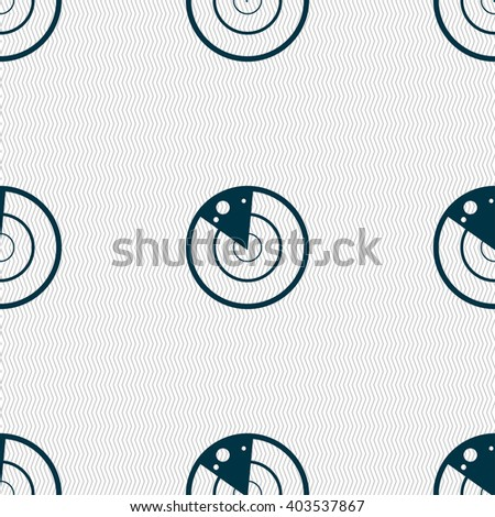 radar icon sign. Seamless abstract background with geometric shapes. illustration - stock photo