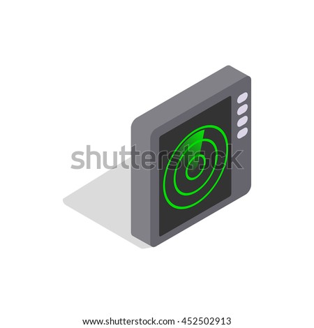 Radar screen icon in isometric 3d style on a white background - stock photo