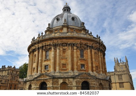 Radcliffe Camera at Oxford University in England - stock photo