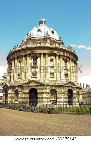 radcliffe camera bodleian library - stock photo