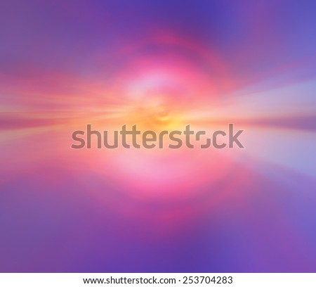 Radial blur effect of sunset sky color - stock photo