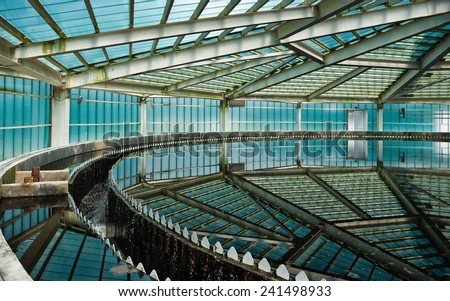 Radial Settler at Wastewater Treatment Plant - stock photo