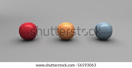 Radiation Balls - stock photo
