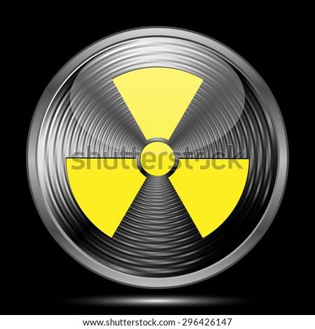 Radiation icon. Internet button on black background.  - stock photo