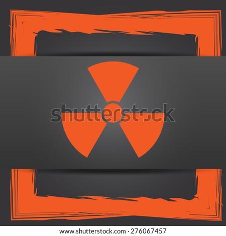 Radiation icon. Internet button on grey background. - stock photo