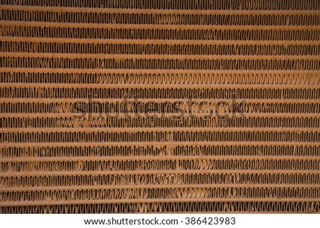 Radiator grille rollers - stock photo