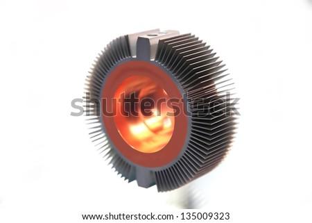 Radiator - heat sink isolated on white background - stock photo