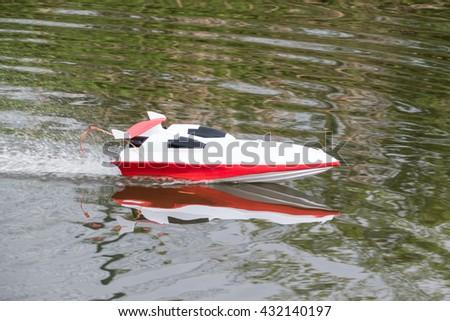 Radio Controlled Boat - stock photo