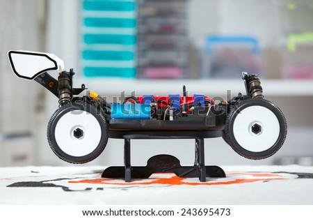 Radio-controlled car - RC cars buggy - stock photo