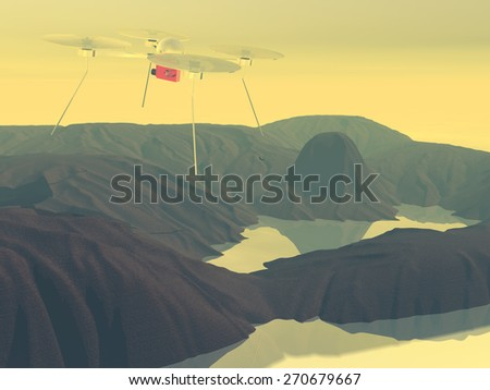 radio controlled drone - stock photo