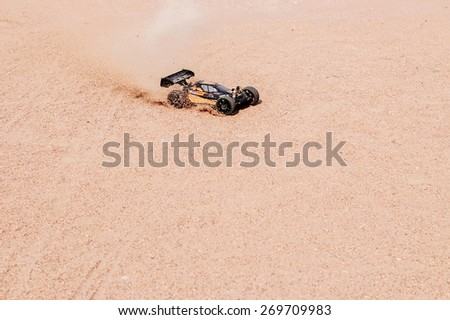 Radio-controlled race car - stock photo
