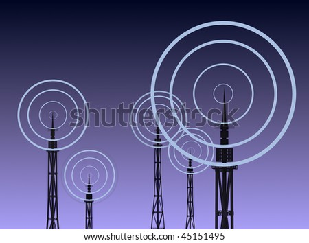 radio signal - stock photo