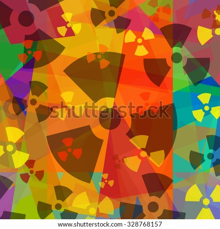 Radioactive background - stock photo