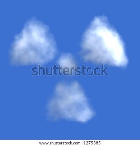Radioactive cloud - stock photo
