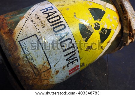 Radioactive container - stock photo