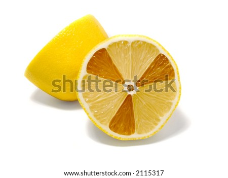 Radioactive lemon - stock photo