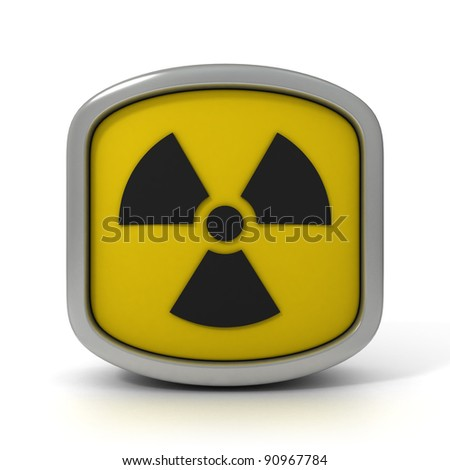 Radioactivity Sign Isolated on a White Background. Part of a series. - stock photo