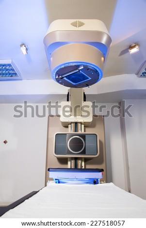 Radiotherapy room - Radiation therapy machine - stock photo