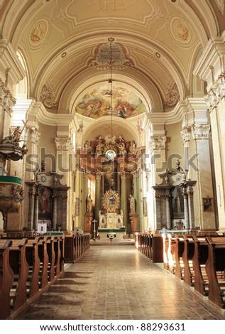 Radna monastery interior - Romania - stock photo