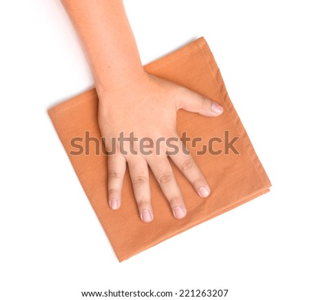 rag for cleaning - stock photo