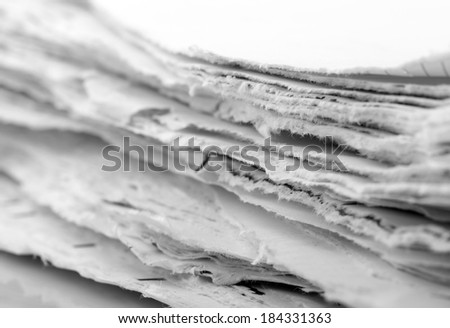 Ragged paper sheets - stock photo