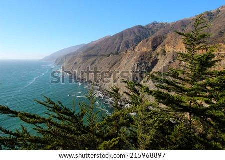 Ragged Point, southern Big Sur Coast, California, USA - stock photo